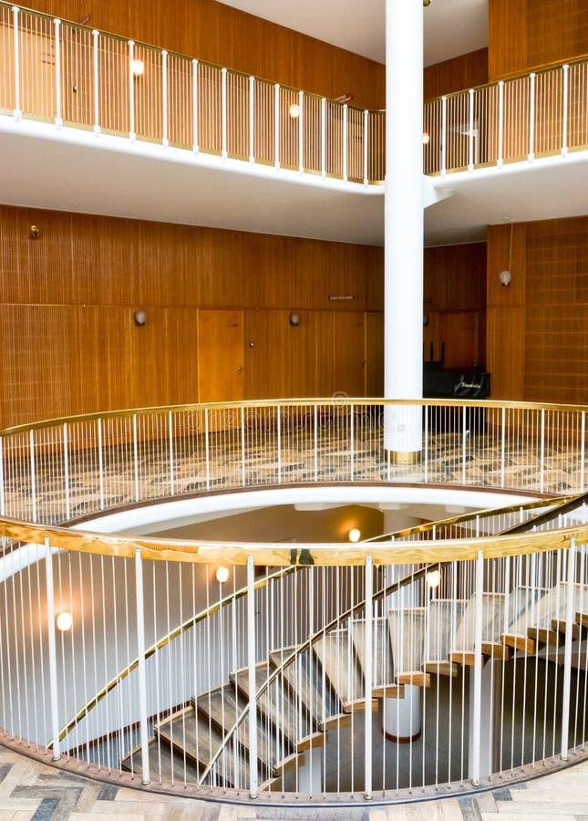 Интерьер ратуши Орхуса (II), Дания стоковые изображения