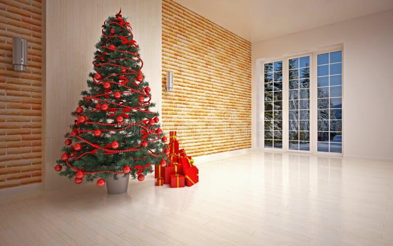 Интерьер рождества пустой бесплатная иллюстрация