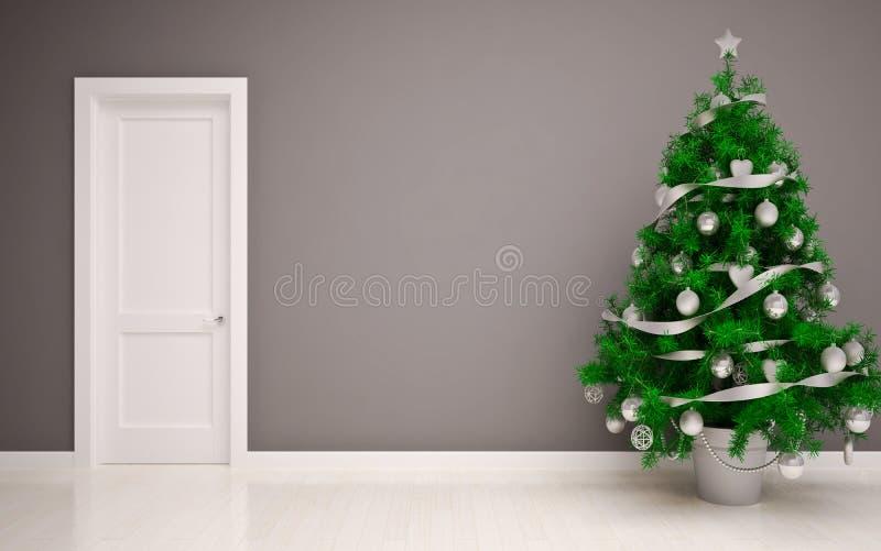 Интерьер рождества пустой иллюстрация вектора