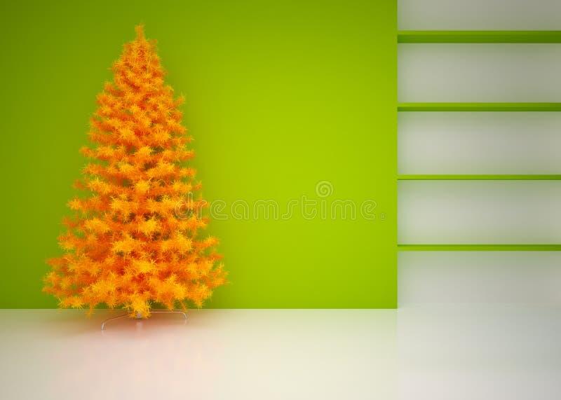 Интерьер рождества пустой стоковое фото rf