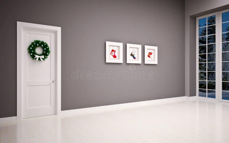 Интерьер рождества пустой стоковое изображение