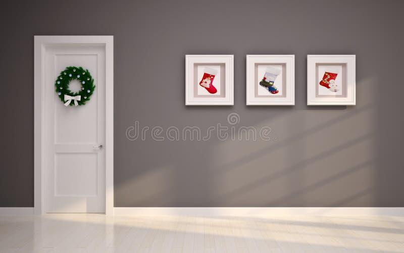 Интерьер рождества пустой стоковые фото