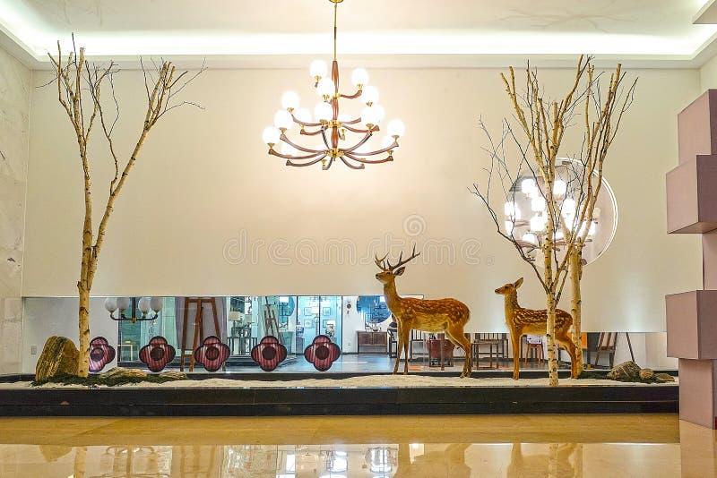 Интерьер салона освещения Led стоковое изображение