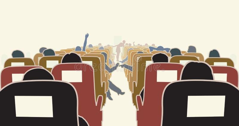 интерьер самолета иллюстрация вектора