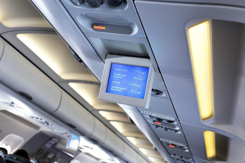 интерьер самолета стоковые фотографии rf