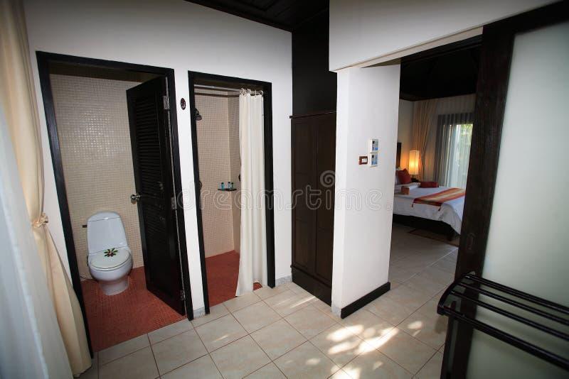 Интерьер санузла, wc, toilette, ванной комнаты, туалета, уборного стоковое изображение rf