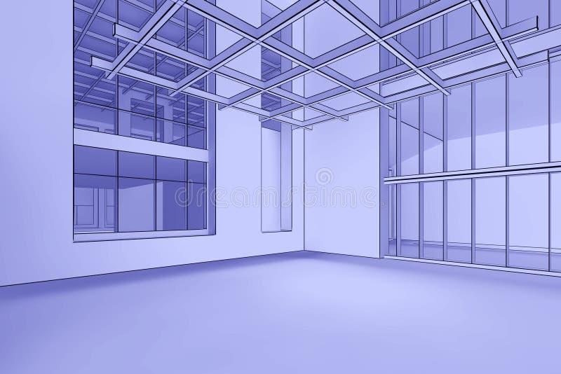 интерьер светокопии пустой бесплатная иллюстрация