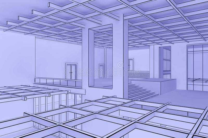 интерьер светокопии иллюстрация вектора