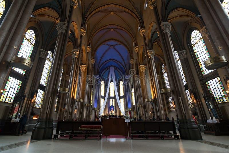 Интерьер Святого Антония церков Падуи, Стамбула, Турции стоковое фото rf