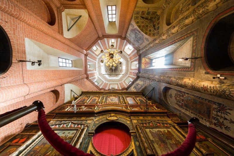 Интерьер собора базиликов St на красной площади стоковые фотографии rf