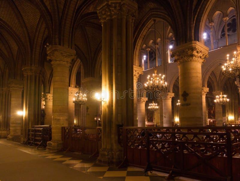 интерьер собора готский стоковые изображения rf