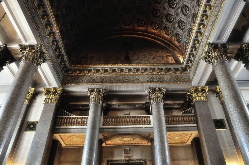 Интерьер собора Казани в Санкт-Петербурге, России стоковое фото