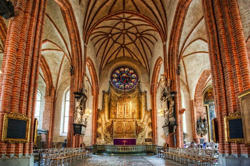 Интерьер собора Стокгольма стоковое фото rf