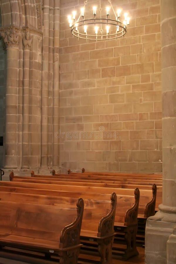 интерьер собора стоковое изображение