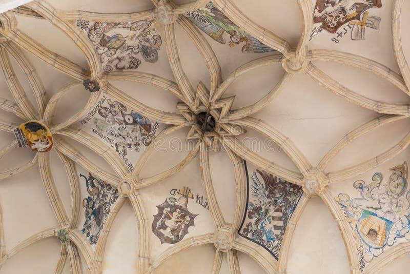 Интерьер собора, Kutna Hora, место наследия ЮНЕСКО, центральная Богемия, чехия стоковое фото rf