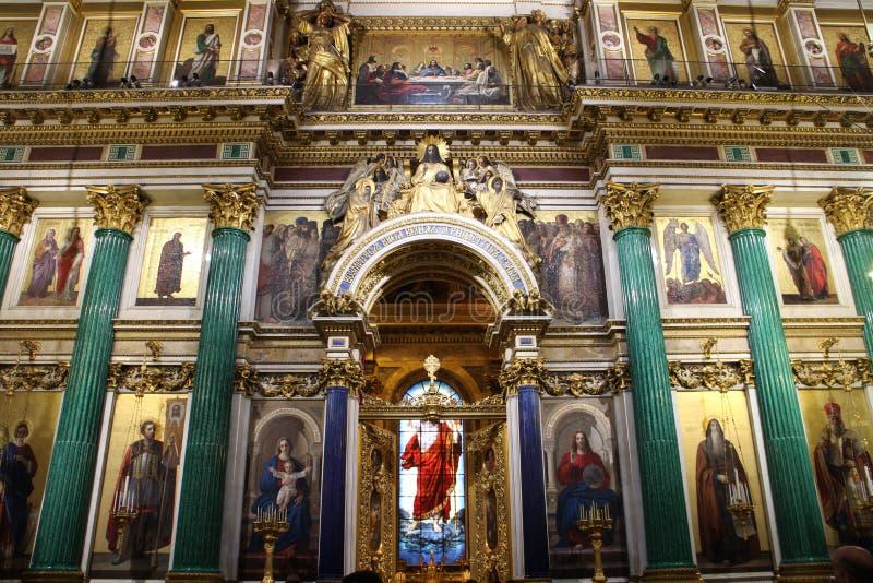 Интерьер собора ` s St Исаак, Санкт-Петербурга стоковые фото