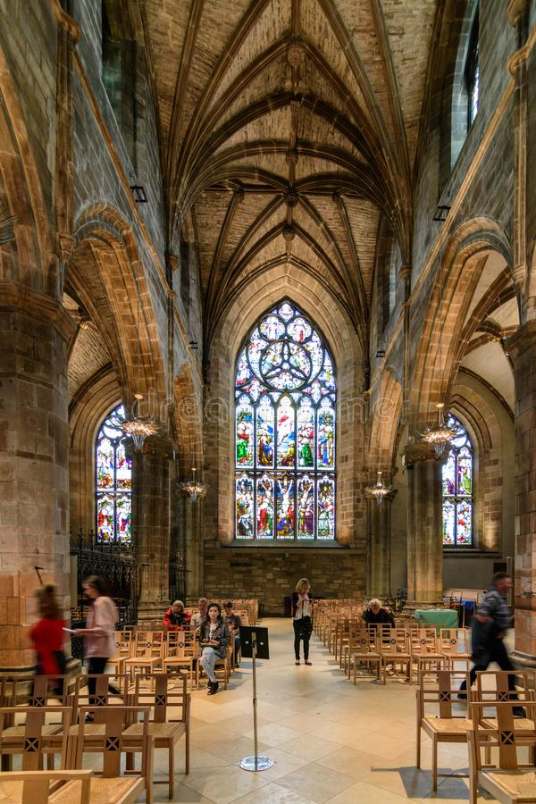 Интерьер собора ` St Giles в Эдинбурге, Шотландии стоковая фотография
