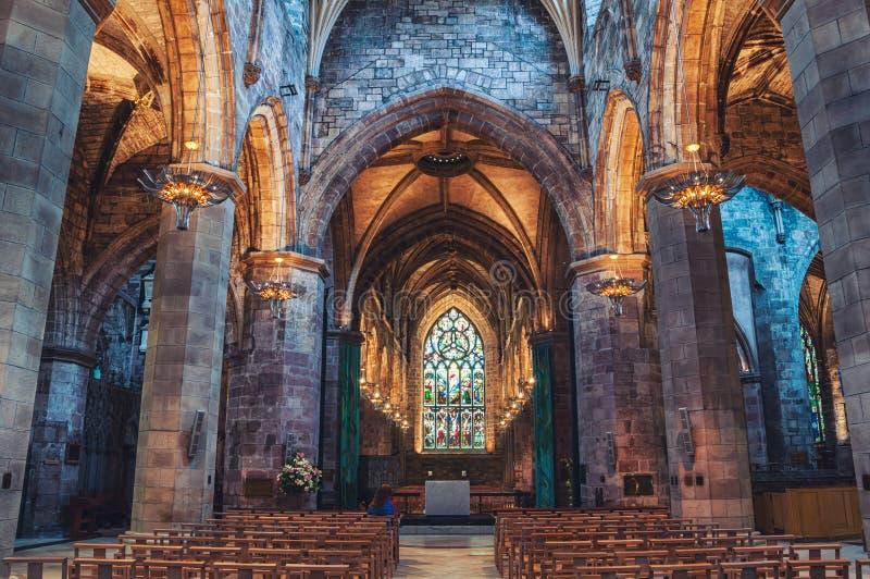Интерьер собора St Giles в Эдинбурге стоковые фотографии rf