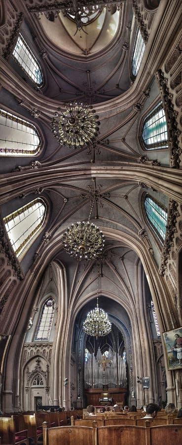 Интерьер собора St Nicholas римско-католического, Киева стоковые изображения rf