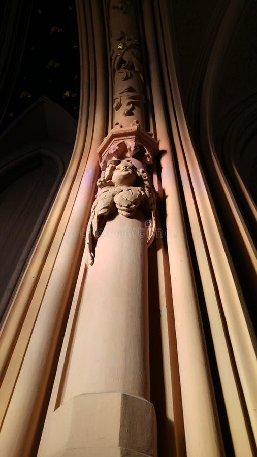 Интерьер собора St Nicholas римско-католического, Ki стоковые фотографии rf