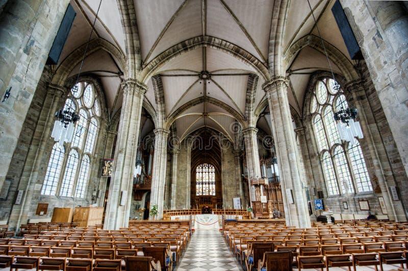 Интерьер собора Warwick стоковое изображение rf
