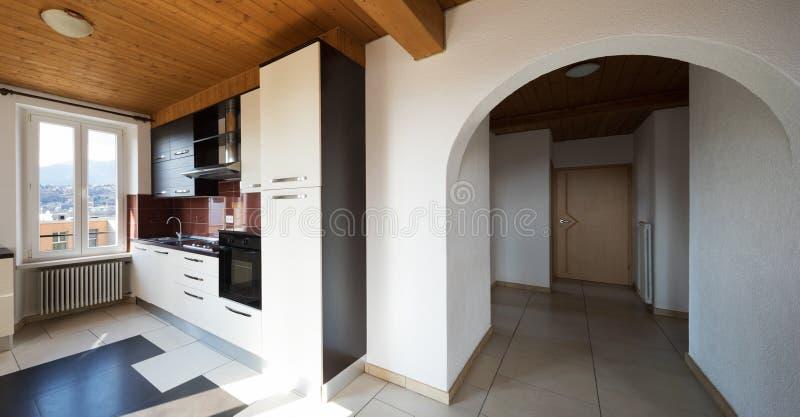 Интерьер современного дома, никто внутрь стоковые фотографии rf