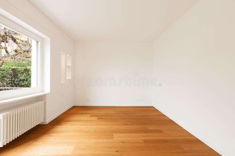 Интерьер современной квартиры, пустой комнаты стоковое изображение rf