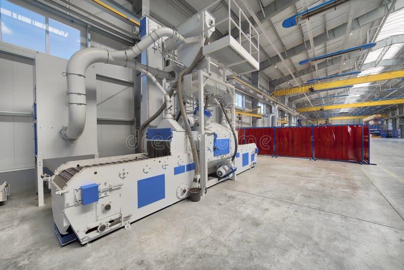 Интерьер современной фабрики Яркая большая мастерская, внутрь там блок взрывать съемки стоковые изображения
