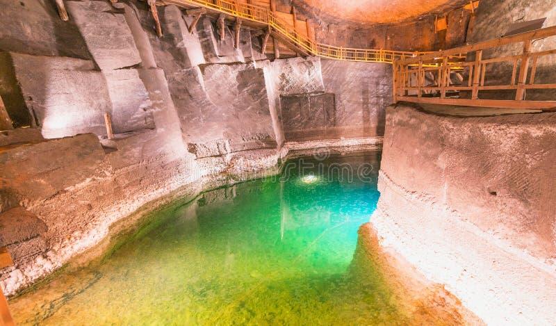Интерьер солевого рудника Wieliczka в Польше стоковая фотография rf