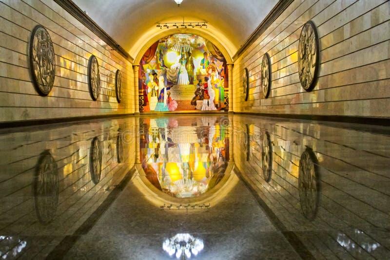 Download Интерьер станции метро в Алма-Ате Казахстане Стоковое Изображение - изображение насчитывающей изображение, тоннель: 33737561