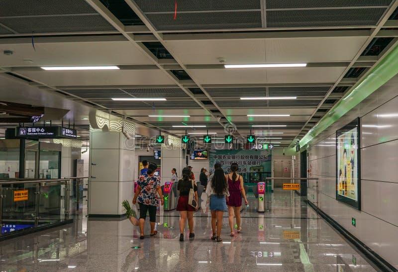Интерьер станции метро стоковая фотография