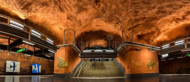 Интерьер станции Rinkeby, Стокгольма стоковое изображение rf