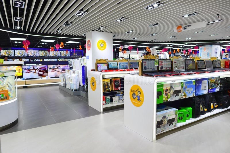 Интерьер торгового центра Гонконга стоковое фото