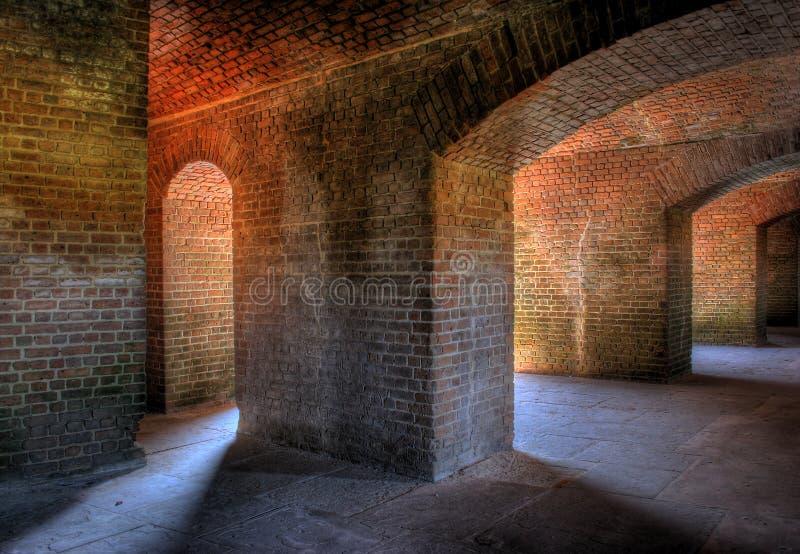 интерьер форта стоковое фото rf