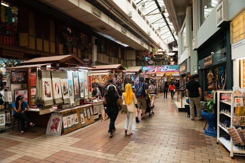 Интерьер центрального рынка Куалаа-Лумпур стоковые фотографии rf
