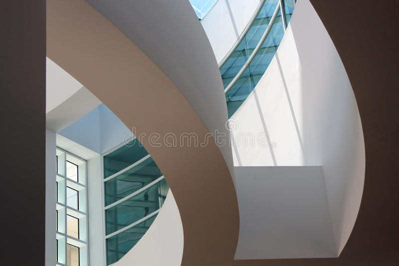 Интерьер центра Getty - Los Angeles стоковые фото