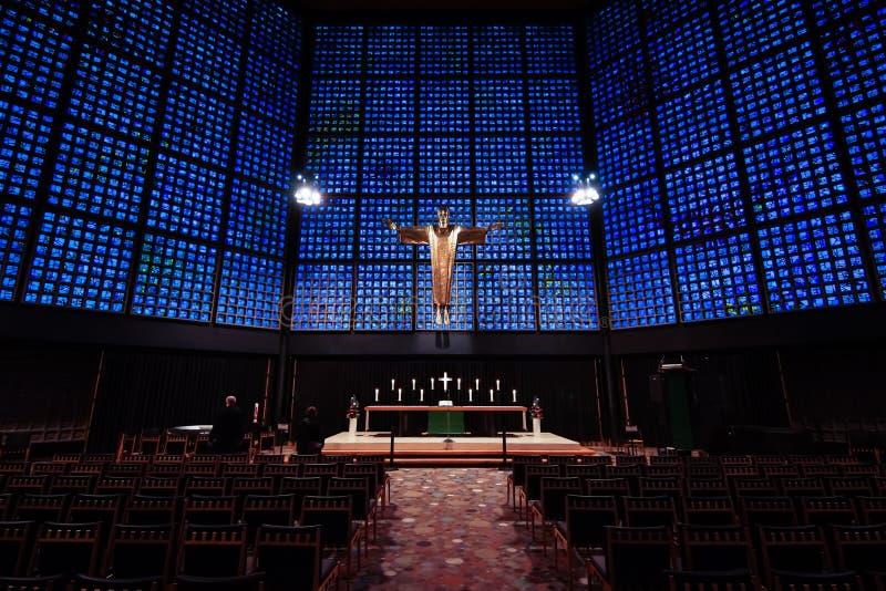 Интерьер церков мемориала Kaiser Wilhelm стоковые изображения