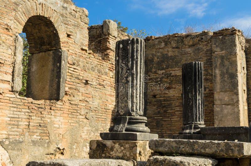 Интерьер церков, руин мастерской Pheidias стоковые фото