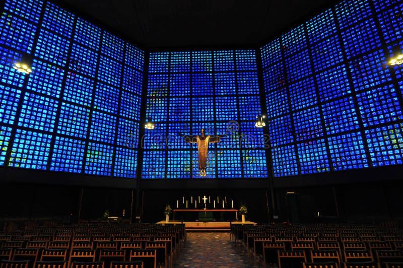 Интерьер церков Kaiser Wilhelm мемориальный стоковое изображение rf