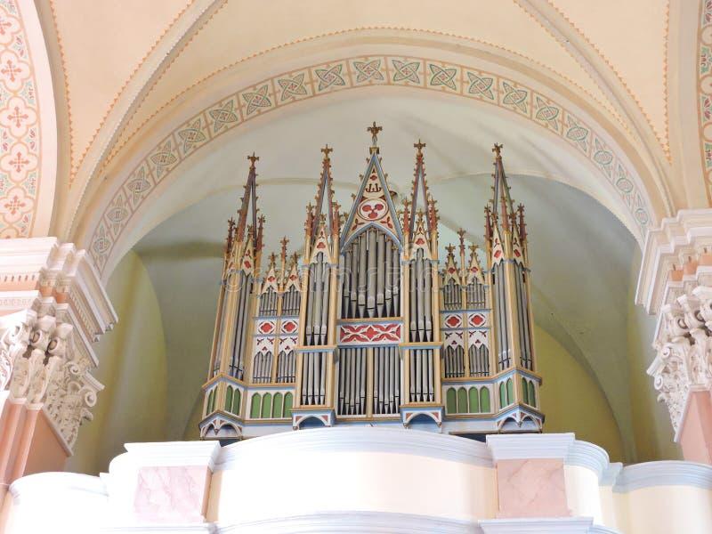 Интерьер церков Skirsnemune, Литва стоковое изображение rf