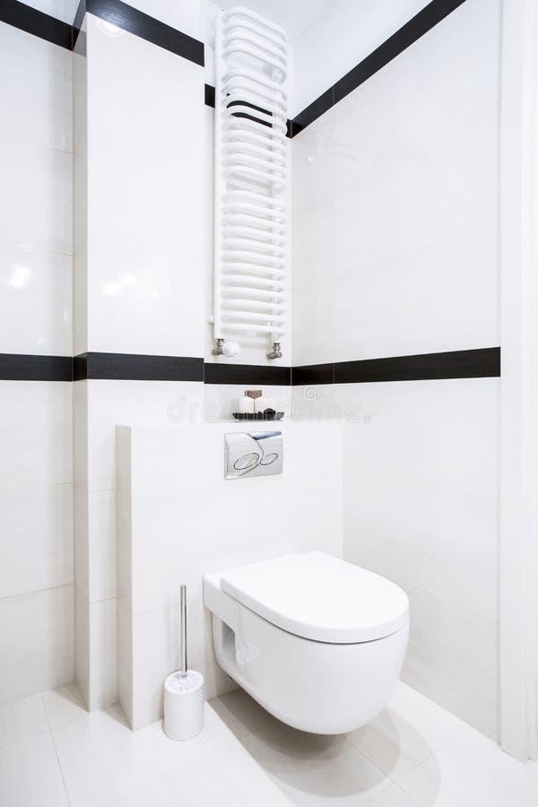 Интерьер чистого и свежего туалета стоковое изображение rf