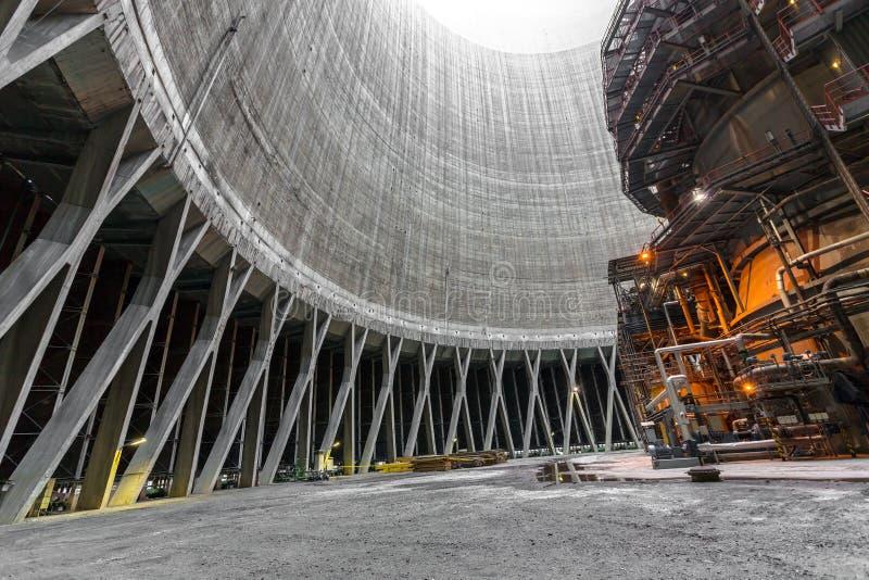 Интерьер электрической станции тепловой мощности стоковое изображение rf