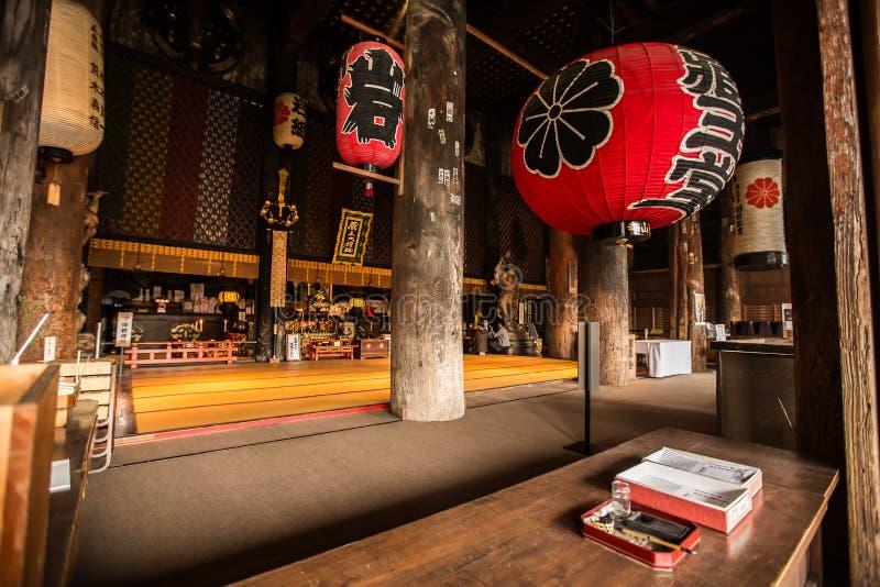 Интерьер японского виска Дзэн, горы Yoshino стоковая фотография rf