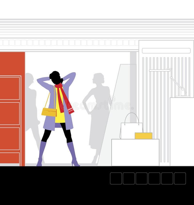 интерьер 2 бутиков бесплатная иллюстрация