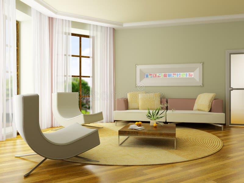 интерьер 3d представляет стоковое фото