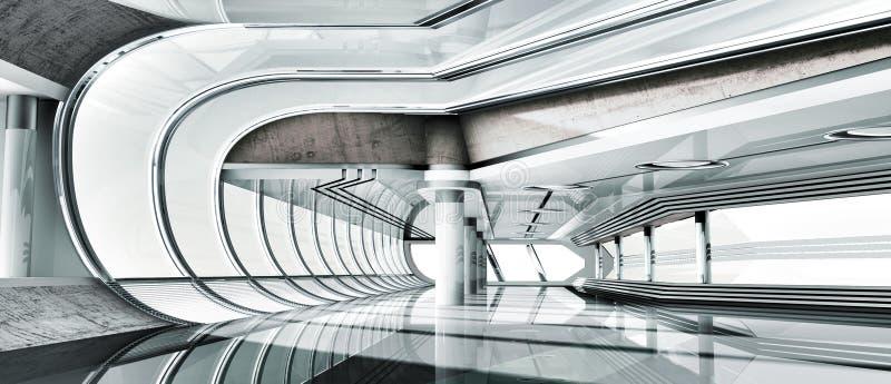интерьер 3d стоковое изображение