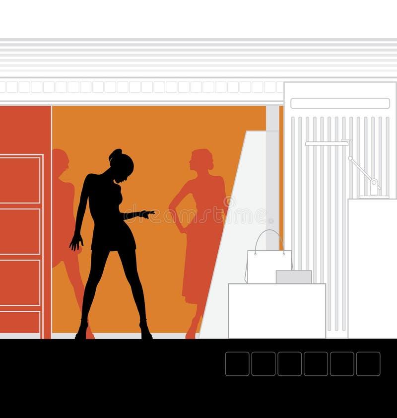 интерьер 4 бутиков бесплатная иллюстрация