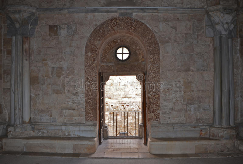 Интерьер Castel del Monte, Apulia, Италии стоковые фото