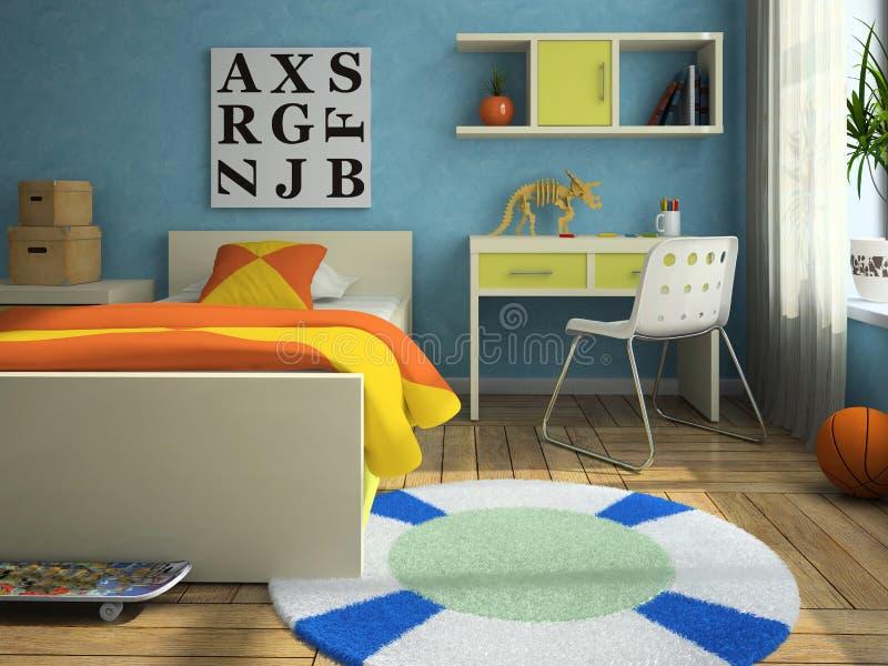 интерьер childroom бесплатная иллюстрация