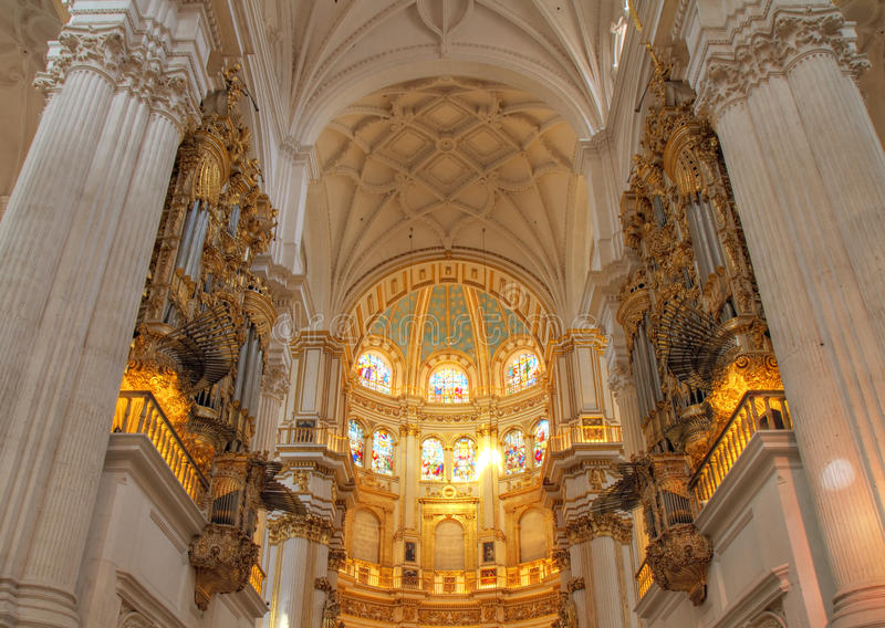 интерьер granada собора стоковое фото